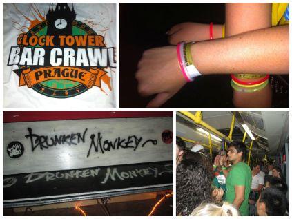 Pub crawl collage